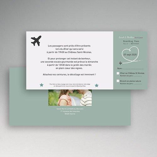 Carton Invitation Personnalisé Destination Bonheur pas cher