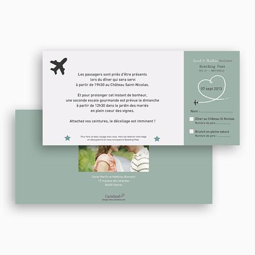 Carton Invitation Personnalisé Destination Bonheur gratuit