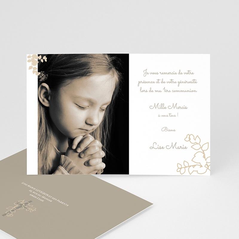 Carte Remerciement Communion Fille esprit communion