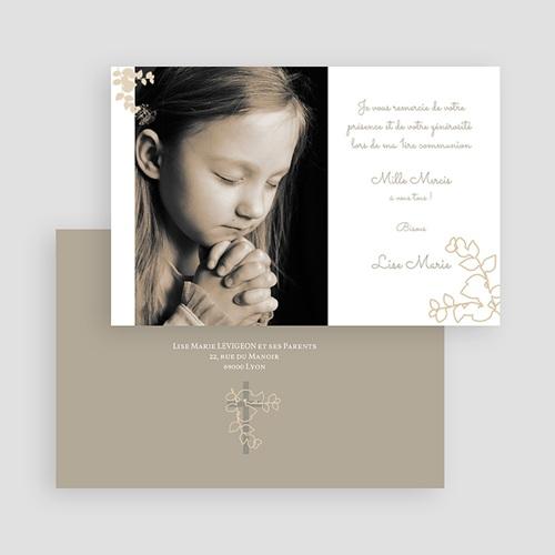 Carte Remerciement Communion Fille esprit communion gratuit
