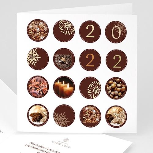 Cartes de Voeux Professionnels - Couleur chocolat 22010