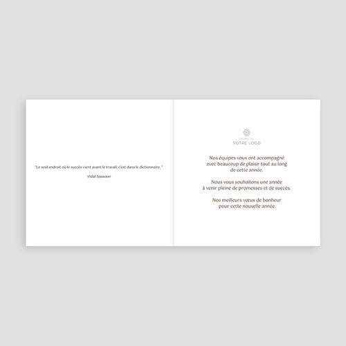 Cartes de Voeux Professionnels - Couleur chocolat 22011 thumb