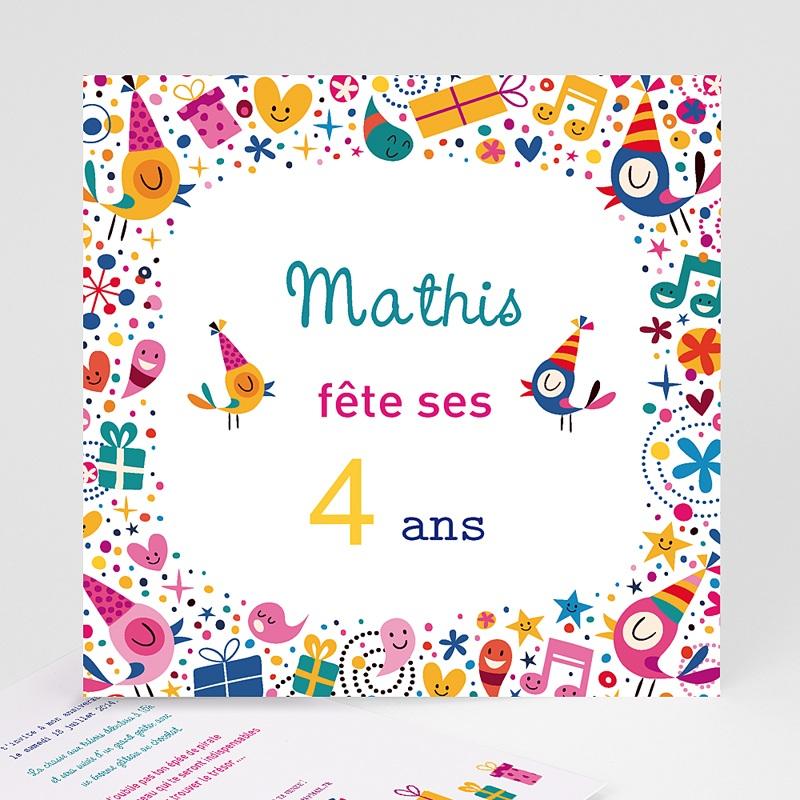 Invitation Anniversaire Garçon - 4 ans fille et garçon 22069 thumb