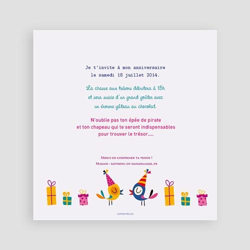 Carte invitation anniversaire garçon 4 ans fille et garçon pas cher