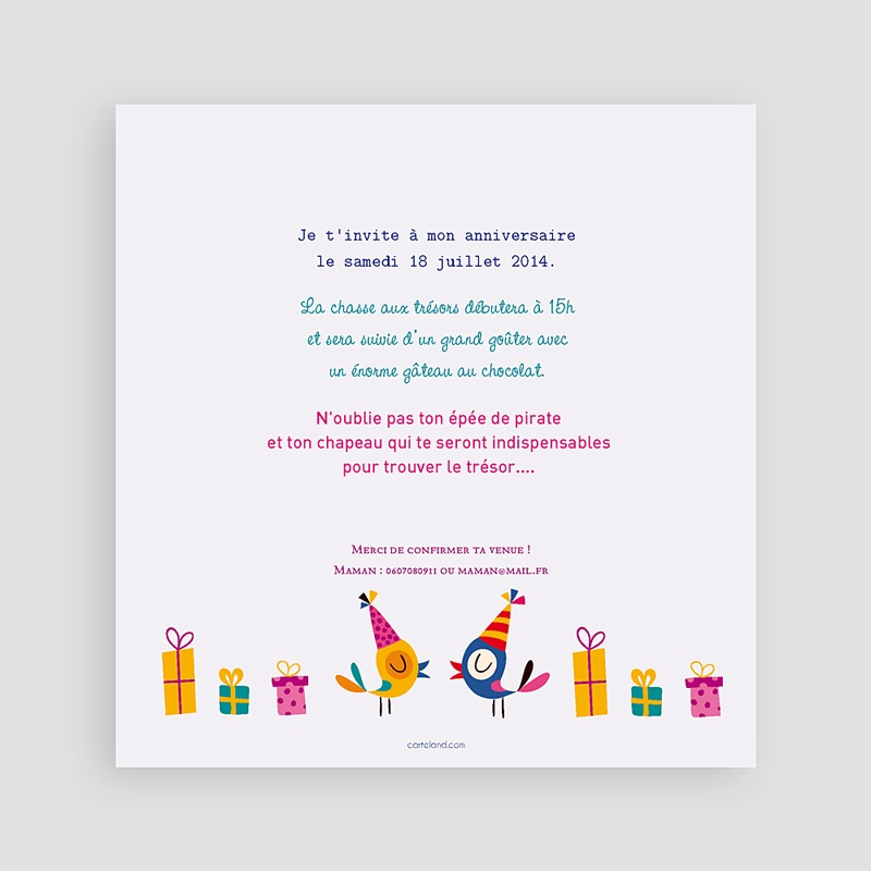 Invitation Anniversaire Garçon - 4 ans fille et garçon 22070 thumb