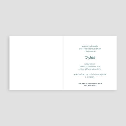 Faire-part Baptême Garçon - Invitation Florale 22108 thumb