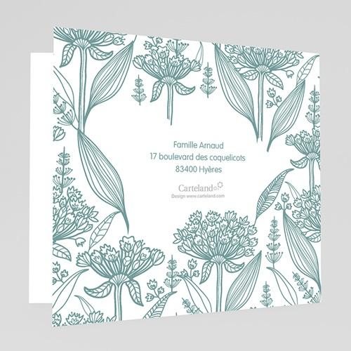 Faire-part Baptême Garçon - Invitation Florale 22109 thumb