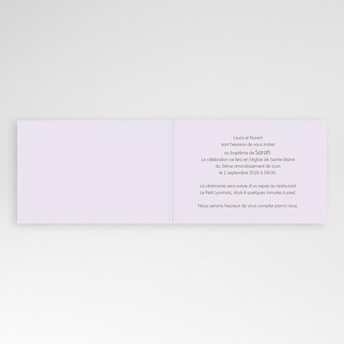 Faire-part Baptême Fille - Fleurs Rosées 22189 preview