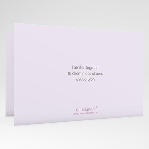 Faire-part Baptême Fille - Fleurs Rosées 22190 preview