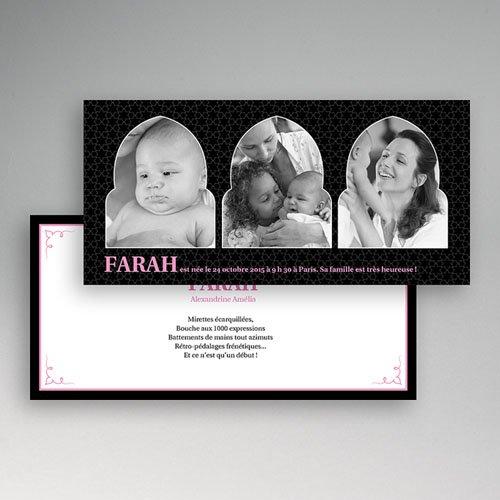Faire-Part Naissance Fille - 1001 nuits 2225 preview