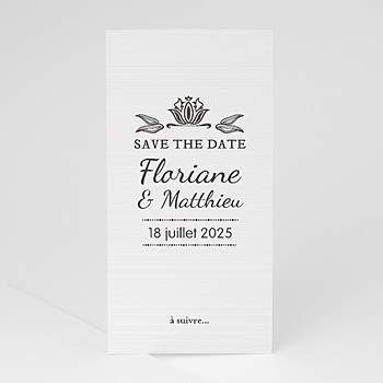 Save-The-Date - Ornement Vintage - 1