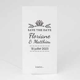 Save the date Ornement Vintage