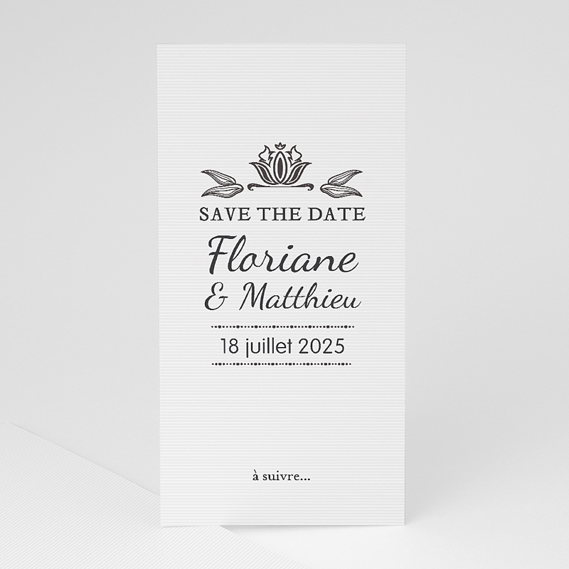 Save The Date Mariage Ornement Vintage