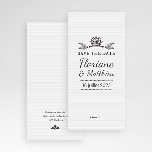 Save-The-Date - Ornement Vintage 22268 thumb