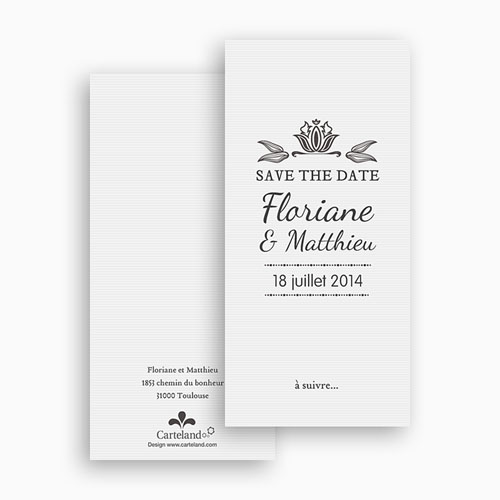 Save-The-Date - Ornement Vintage 22269 thumb
