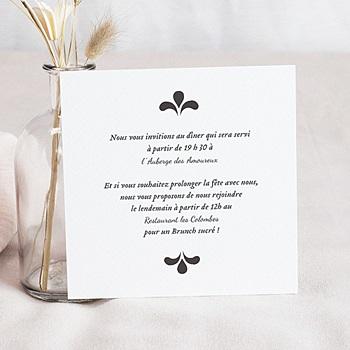 Carton Invitation Personnalisé - Ornement Vintage - 1