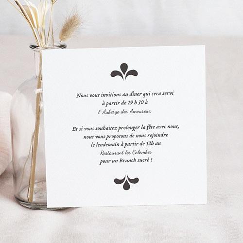 Carton Invitation Personnalisé Ornement Vintage