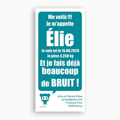 Faire-Part Naissance Garçon - Comics Bleu 2232 thumb