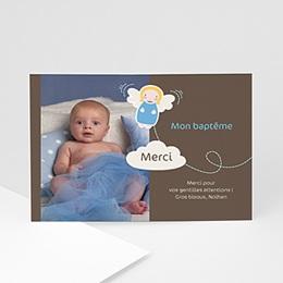 Carte remerciement baptême garçon blue angel