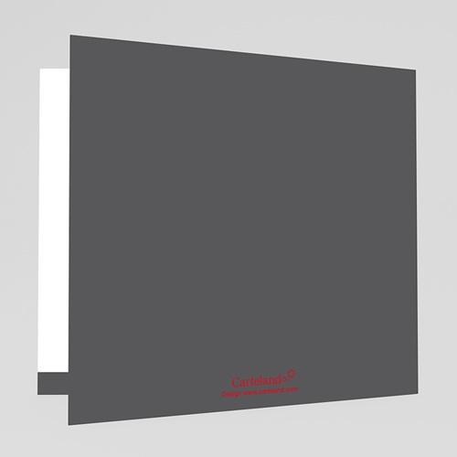 Faire-Part Mariage Personnalisés - Rouge & Gris 22411 thumb