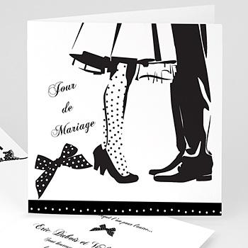 Faire part de mariage silhouettes noir