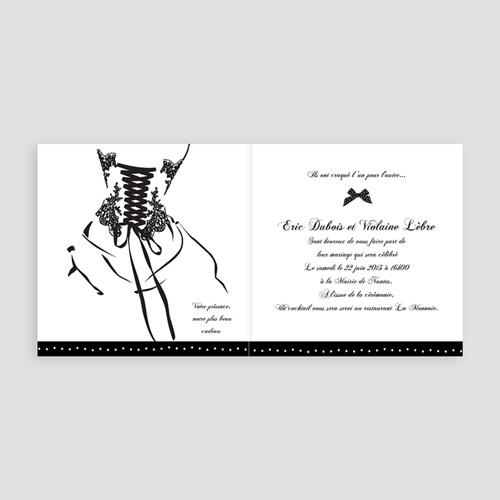 Faire-Part Mariage Personnalisés - Silhouettes 22436 thumb