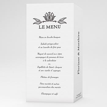 Achat menu mariage personnalisé ornement vintage