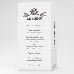 Menu Ornement Vintage