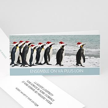 Achat carte de voeux entreprise pingouins