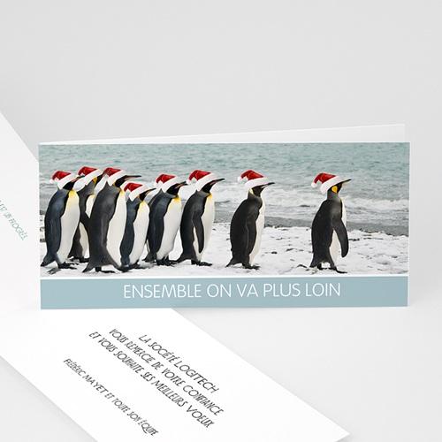 Cartes de Voeux Professionnels - Pingouins 22471