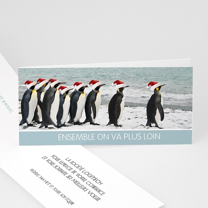 Carte de voeux entreprise Pingouins