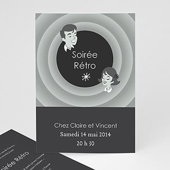 Invitation Anniversaire Adulte - Soirée Rétro - 1