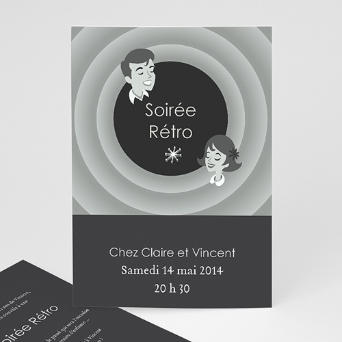 Carte Invitation Anniversaire Adulte Soirée Rétro