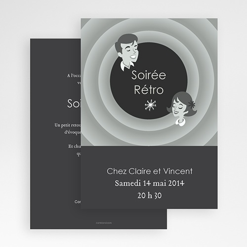 Carte Invitation Anniversaire Adulte Soirée Rétro gratuit