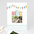 Carte remerciement mariage - Fanions pastels - 2817