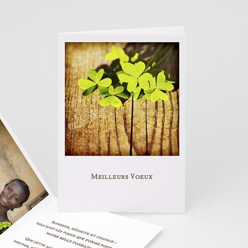 Cartes de Voeux Professionnels - Trèfle Porte Bonheur 22578
