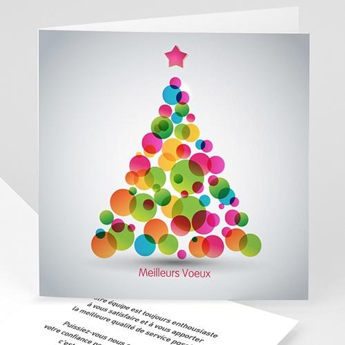 Cartes de Voeux Professionnels - Sapin à bulles colorées 22596