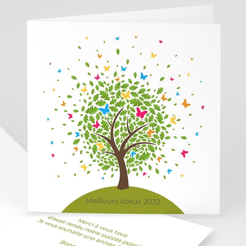 Carte de Voeux Professionnelle - Arbre à papillons 22614 thumb