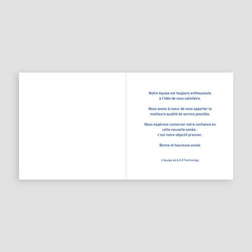 Cartes de Voeux Professionnels - Petits rennes bleus 22633 preview