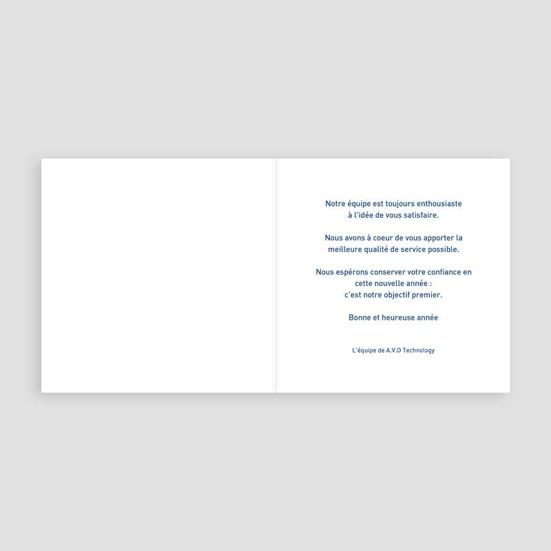 Carte de Voeux Professionnelle - Petits rennes bleus 22633 thumb