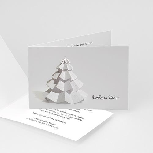 Cartes de Voeux Professionnels - Sapin en papier 22641 thumb