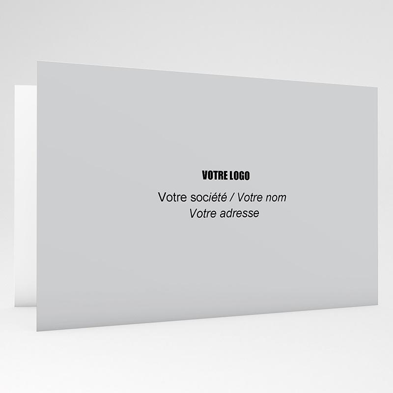 Carte de voeux entreprise Sapin en papier gratuit