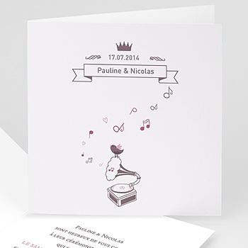 Faire Part Mariage classique - Douce Musique - 1
