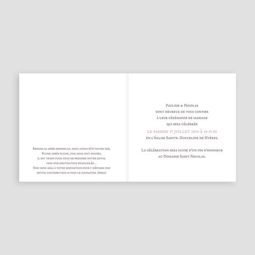 Faire Part Mariage classique - Douce Musique 22666 thumb