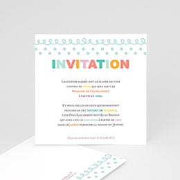 Invitations Fanions pastels