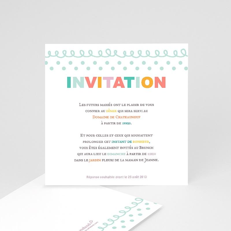 Carton Invitation Personnalisé Fanions pastels