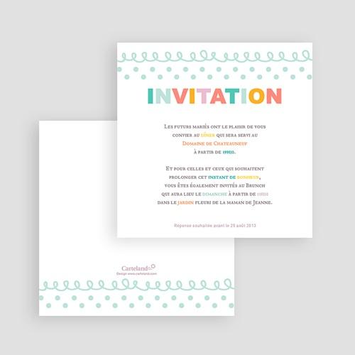 Carton Invitation Personnalisé Fanions pastels gratuit