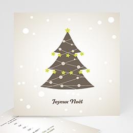 Carte de voeux Joyeux Noel sapin de Noel et guirlande