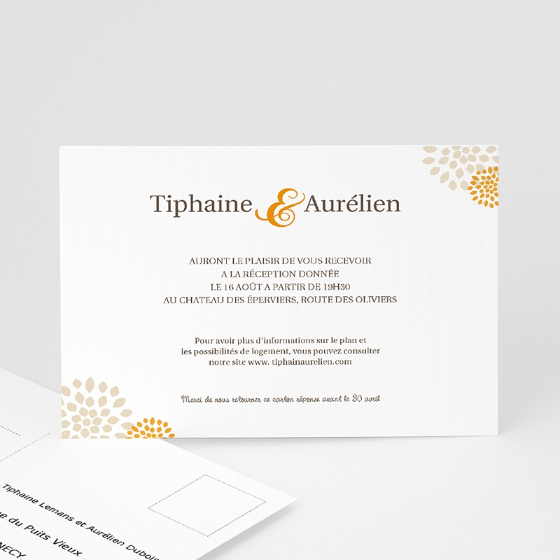 Carton Invitation Personnalisé Campagne Provençale - Tiphaine
