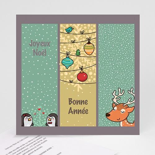 Carte de Voeux Joyeux Noël et Bonne Année Esprit BD de Noel